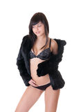 Sexy girl in black Royalty Free Stock Photos