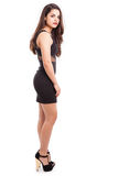 Sexy girl in a black dress Stock Photography