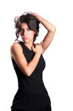 Sexy Girl in Black Dress Royalty Free Stock Photo