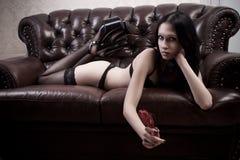 Naughty girl Royalty Free Stock Photo