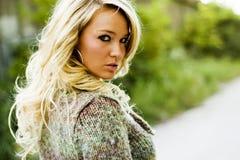 Girl Blonde Fashion Model stock photography
