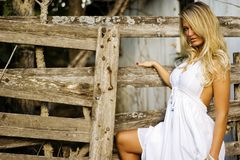 Girl - Blonde Fashion Model stock photography