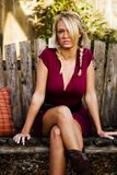 Girl Blonde Fashion Model royalty free stock images