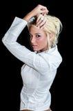 Sexy Girl Blonde Fashion Model Stock Photos
