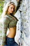 Girl Blonde Female Model Stock Images