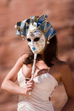 Sexy girl with carnival mask Royalty Free Stock Image