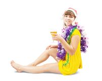 Sexy girl with champagne Stock Photos