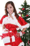 Sexy girl at Christmas Royalty Free Stock Image