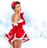 Sexy girl with christmas gifts Royalty Free Stock Photo