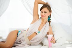Sexy girl in cocktail dress Royalty Free Stock Images