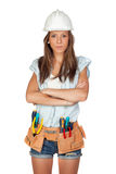 Sexy girl with construction tools Stock Photos