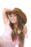 Sexy girl in cowboy hat Royalty Free Stock Photo