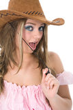 Sexy girl with cowboy hat Stock Image