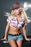 Sexy girl with cowboy hat Stock Images