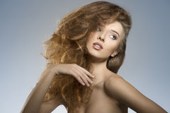 Sexy girl with creative hair-style Royalty Free Stock Images