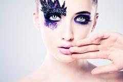 Sexy Girl with Creative Makeup Stock Photo