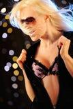 Sexy girl dancing Stock Image