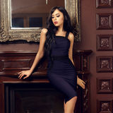 Sexy girl in dress Stock Images