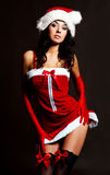 Sexy girl dressed as Santa Royalty Free Stock Photography