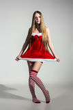 Sexy girl dressed as Santa Claus Royalty Free Stock Photo