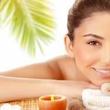 girl enjoying spa Royalty Free Stock Images