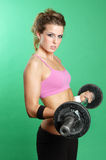 Sexy girl exercising Stock Image