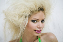 Sexy girl with extreme hair Royalty Free Stock Photos