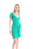 girl in green gown Stock Images