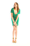 girl in green gown Royalty Free Stock Images