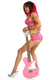 Sexy girl with guitar Royalty Free Stock Photography