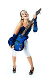 Sexy girl with a guitar Royalty Free Stock Photos