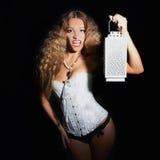 Sexy girl halloween vamp Stock Photo