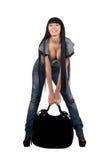 girl with a handbag Royalty Free Stock Photos