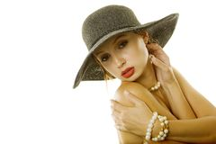 Sexy girl in hat Royalty Free Stock Photos