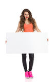 Sexy Girl Holding Placard Royalty Free Stock Image