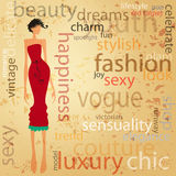 Sexy girl illustration Stock Photos