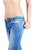 Sexy girl in jeans Stock Photography