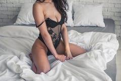 Sexy girl in linen Stock Photo
