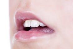 girl lips Stock Images