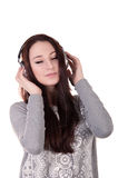 Sexy girl listening to music Royalty Free Stock Image