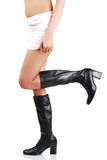 Sexy girl in long shoes Stock Photography