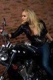 Sexy girl on motorbike Stock Photo