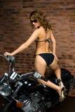 girl on motorbike stock images