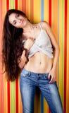 Sexy girl,naked belly Stock Photos
