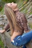 girl with open waist stock photos