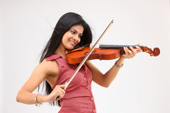 Sexy girl playing violin Royalty Free Stock Images