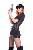 Sexy girl in police uniform Royalty Free Stock Image