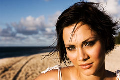 Sexy girl portrait. On the beach Stock Photo