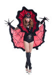 girl posing in devil costume for Halloween Royalty Free Stock Photography