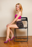 Sexy Girl Posing Stock Photography